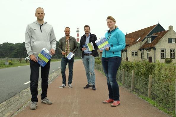 vlnr: William de Jong, Martijn Boelens, Theo Faber en Hanneke Wa